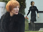 Exclusive  Mandatory Credit: Photo by Action Press/REX (4301486b)  Cate Blanchett  Filming on the set of 'Manifesto' at the Stahnsdorf Cemetery near Berlin, Germany - 14 Dec 2014  Cate Blanchett filming  on the set of the Julian Rosefeldt art film project 'Manifesto'