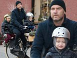 Mandatory Credit: Photo by Startraks Photo/REX (4301780d)\n Liev Schreiber with sons Alexander Pete Schrieber and Samuel Kai Schreiber\n Liev Schreiber and sons out and about, New York, America - 15 Dec 2014\n \n