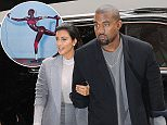 Mandatory Credit: Photo by REX (4239800l).. Kim Kardashian and Kanye West.. Kim Kardashian and Kanye West out and about, New York, America - 07 Nov 2014.. ..