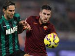 ROME, ITALY - DECEMBER 06:  Kevin Strootman (R) of AS Roma competes for the ball with Simone Missiroli of US Sassuolo Calcio during the Serie A match between AS Roma and US Sassuolo Calcio at Stadio Olimpico on December 6, 2014 in Rome, Italy.  (Photo by Paolo Bruno/Getty Images)