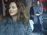 MUST BYLINE: EROTEME.CO.UK\nTrinny Woodall is seen for the first time since the passing of her former husband Johnny Elichaoff a month ago. Trinny appeared in good spirits as she enjoyed lunch at Scott's restaurant with her boyfriend Charles Saatchi who was looking very dapper with his new shorter haircut.\nEXCLUSIVE    December 13, 2014\nJob: 141213L2     London, England\nEROTEME.CO.UK\n44 207 431 1598\n