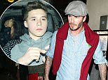 14.DECEMBER.2014 - LONDON - UK RETIRED ENGLISH FOOTBALLING LEGEND AND NOW FAMILY MAN DAVID BECKHAM WAS SEEN LEAVING BENIHANA JAPANESE RESTAURANT ON KINGS ROAD WITH HIS CHILDREN. BYLINE MUST READ : XPOSUREPHOTOS.COM ***UK CLIENTS - PICTURES CONTAINING CHILDREN PLEASE PIXELATE FACE PRIOR TO PUBLICATION *** UK CLIENTS MUST CALL PRIOR TO TV OR ONLINE USAGE PLEASE TELEPHONE 0208 344 2007**