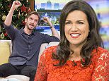 EDITORIAL USE ONLY. NO MERCHANDISING  Mandatory Credit: Photo by Steve Meddle/ITV/REX (4301578g)  Dan Stevens with Susanna Reid and Ben Shephard  'Good Morning Britain' TV Programme, London, Britain. - 15 Dec 2014