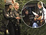 *EXCLUSIVE* West Hollywood, CA - Kendall Jenner and Hailey Baldwin have a good time together looking for the perfect Christmas tree in West Hollywood.  The two leather clad beauties, in their all black outfits, take there time looking for the right tree and then having it loaded onto the car.                        AKM-GSI          December 15, 2014 To License These Photos, Please Contact : Steve Ginsburg (310) 505-8447 (323) 423-9397 steve@akmgsi.com sales@akmgsi.com or Maria Buda (917) 242-1505 mbuda@akmgsi.com ginsburgspalyinc@gmail.com