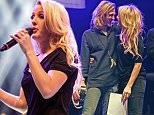 """17 DEC 2014  - LONDON  - UK *** EXCLUSIVE ALLROUND PICTURES *** ELLIE GOULDING IS JOINED ONSTAGE BY HER BOYFRIEND DOUGIE POYNTER AND ALL THE PERFORMERS AT THE ELLIE GOULDING AND FRIENDS GIG TO SING """"LAST CHRISTMAS"""" AT THE SHEPHERDS BUSH EMPIRE IN AID OF STREETS OF LONDON HOMELESS CHARITY. BYLINE MUST READ: ANDREW TIMMS/XPOSUREPHOTOS.COM BYLINE MUST READ : XPOSUREPHOTOS.COM ***UK CLIENTS - PICTURES CONTAINING CHILDREN PLEASE PIXELATE FACE PRIOR TO PUBLICATION *** **UK CLIENTS MUST CALL PRIOR TO TV OR ONLINE USAGE PLEASE TELEPHONE  442083442007**"""
