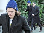 15 DEC 2014  - LONDON  - UK *** EXCLUSIVE ALLROUND PICTURES *** LOTHARIOS HARRY STYLES AND DAVE GARDNER SEEN WEARING NEAR IDENTCAL OUTFITS AS THEY FACED THE BITTERLY COLD WEATHER WHILE OUT STROLLING TOGETHER AROUND IN NOTTING HILL. BYLINE MUST READ : XPOSUREPHOTOS.COM ***UK CLIENTS - PICTURES CONTAINING CHILDREN PLEASE PIXELATE FACE PRIOR TO PUBLICATION *** **UK CLIENTS MUST CALL PRIOR TO TV OR ONLINE USAGE PLEASE TELEPHONE  442083442007**