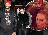"""Kelly Brook and David McIntosh went for a burger and milkshake at """"Archie's"""" in All Saints, Manchester on Sunday evening. 14.12.14."""