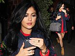 Kylie Jenner leaving Mr. Chow in Beverly Hills, CA.  Pictured: Kylie Jenner Ref: SPL914097  171214   Picture by: FJR / Splash News  Splash News and Pictures Los Angeles: 310-821-2666 New York: 212-619-2666 London: 870-934-2666 photodesk@splashnews.com