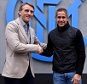 COMO, ITALY - DECEMBER 13:  Head coach Roberto Mancini (L) and assistant coach Sylvinho after the FC Internazionale Training Session at Appiano Gentile on December 13, 2014 in Como, Italy.  (Photo by Claudio Villa - Inter/Getty Images)