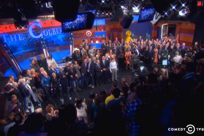 'Colbert Report' Signs Off With a Song