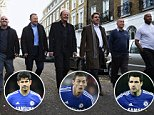 Picture Andy Hooper Daily Mail/ Solo Syndication pic shows Ex Chelsea players L-R - John Spencer, John Hollins, Kerry Dixon, Gary Chivers, Ron Harris and Michael Duberry