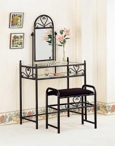 Coaster Black Vanity Table Set