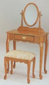 Queen Anne Oak Finish Wood Vanity