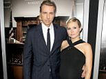 """UK CLIENTS MUST CREDIT: AKM-GSI ONLY..Beverly Hills, CA - Expecting parents Kristen Bell and Dax Shepard attend the premiere of """"The Judge"""" in Beverly Hills.....Pictured: The Judge Premiere..Ref: SPL856454  011014  ..Picture by: AKM-GSI / Splash News...."""