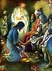 Jesus Images: Jesus washes His disciples feet