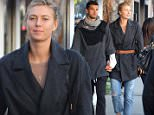 UK CLIENTS MUST CREDIT: AKM-GSI ONLY EXCLUSIVE: Venice, CA - Maria Sharapova and her pro tennis boyfriend Grigor Dimitrov hold hands after a coffee break at Intelligentsia in Venice.  The couple reportedly turned up the PDA inside the Abbot Kinney coffee bar as they kissed and cuddled in front of the other patrons.  Pictured: Maria Sharapova, Grigor Dimitrov Ref: SPL916592  211214   EXCLUSIVE Picture by: AKM-GSI / Splash News