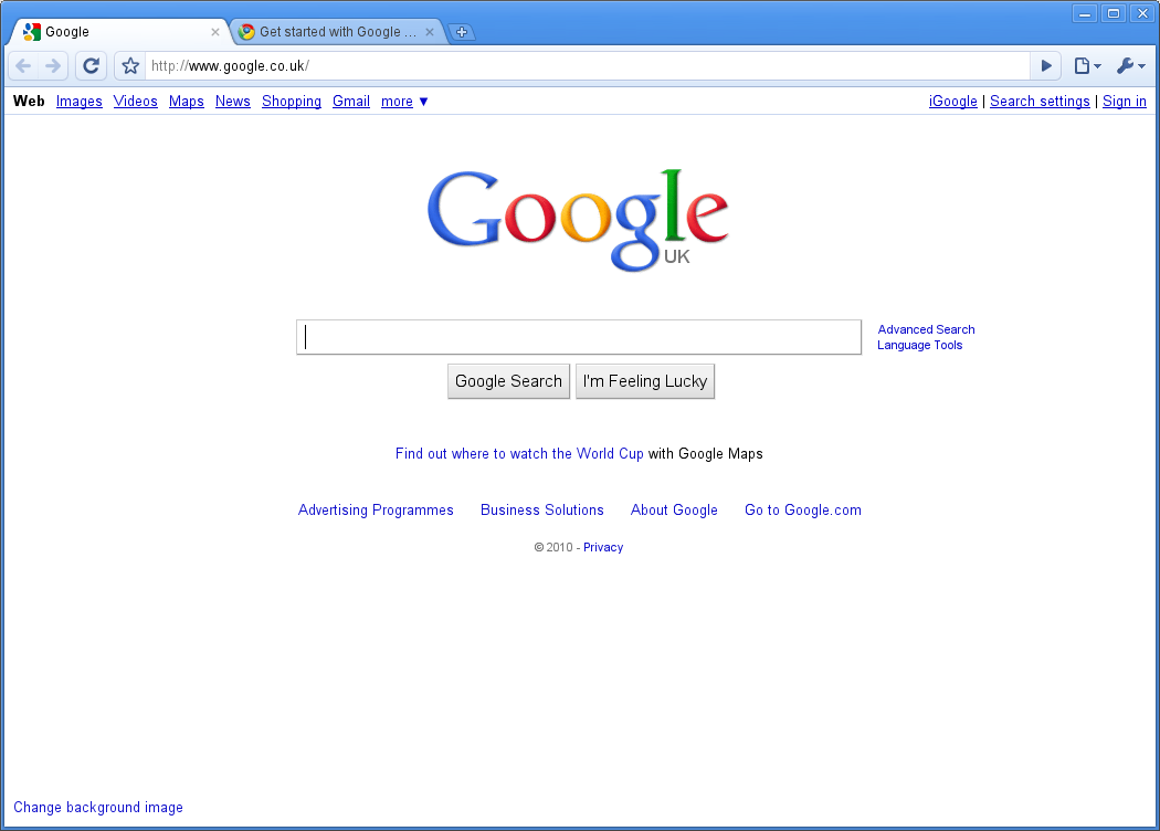 Make Google My Homepage