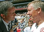 Chelsea's Portugese Manager Jose Mourinho (L) and Manchester United's Manager Sir Alex Ferguson (R) greet each other before their F.A Community Shield match football match at Wembley Stadium in London, 05 August 2007. AFP PHOTO/CARL DE SOUZA (Photo credit should read CARL DE SOUZA/AFP/Getty Images) HORIZONTAL