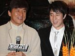 "BEIJING, CHINA - JUNE 05: (CHINA OUT) Actor Jackie Chan and his son Jaycee Chan attend ""Double Trouble"" premiere at Jackie Chan Yaolai International Cinema on June 5, 2012 in Beijing, China. (Photo by ChinaFotoPress/ChinaFotoPress via Getty Images)"