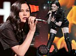 TAMPA, FL - DECEMBER 22:  Jessie J performs onstage during 93.3 FLZs Jingle Ball 2014 at Amalie Arena on December 22, 2014 in Tampa, Florida.  (Photo by Gerardo Mora/Getty Images for iHeartMedia)