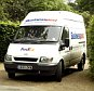 A FedEx van makes a delivery to Dorneywood at Burnham Beeches, Buckinghamshire, pictured on the day Deputy Prime Minister John Prescott gave his right to use the Nationaal Trust property as his grace-and-favour country residence.