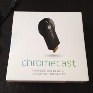 Hello Chromecast, your package is minimalistic and you fit in my purse.  sweet.