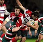Not this time: Gloucester's Jonny May is caught by Ben Woods