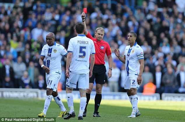 Naughty: El-Hadji Diouf lived up to his reputation as he was sent off for allegedly abusing Brighton fans