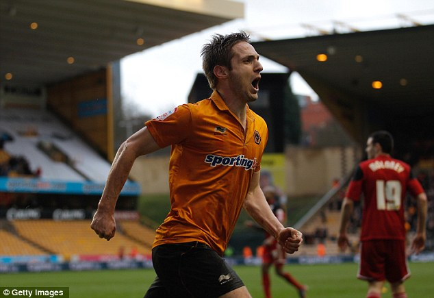 Crucial strike: Kevin Doyle celebrates scoring what proved to be the match winner for Wolves against Bristol City
