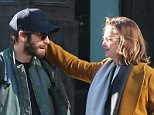 EXCLUSIVE: Jake Gyllenhaal seen out in New York with his rumored girlfriend Ruth Wilson and dog on December 27, 2014.  Pictured: Jake Gyllenhaal and Ruth Wilson  Ref: SPL917701  271214   EXCLUSIVE Picture by: NIGNY/Splash News  Splash News and Pictures Los Angeles: 310-821-2666 New York: 212-619-2666 London: 870-934-2666 photodesk@splashnews.com