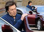 OIC - XCLUSIVEPIX.COM - EXCLUSIVE - MUST AGREE FEES BEFORE USAGE - \nPaul McCartney seen driving his wife Nancy Shevell home after enjoying a Pre Christmas Work out together on the 24th December 2014. \nPhoto Frank Doran/XclusivePix/OIC 077688 36669/0203 174 1069