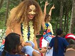 Picture Shows: Beyonce Knowles  December 27, 2014\n Beyonce Knowles and husband and Jay-Z spend Christmas in Phuket, Thailand with daughter Blue Ivy Carter.\n \n While her husband looked on, Beyonce went for a ride on an elephant with her face painted. With the weather a  far-cry from their recent trip to Iceland to celebrate Jay-Z's 45th birthday, Blue Ivy instead chose to cool down with a swim.\n \n Exclusive\n UK RIGHTS ONLY\n \n Pictures by : FameFlynet UK © 2014\n Tel : +44 (0)20 3551 5049\n Email : info@fameflynet.uk.com
