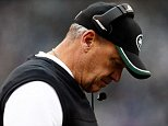 FILE - DECEMBER 29, 2014: It was reported that the New York Jets have fired Head Coach Rex Ryan and general manager John Idzik December 29, 2014 EAST RUTHERFORD, NJ - DECEMBER 21:  Head coach Rex Ryan of the New York Jets looks on prior to a game against the New England Patriots at MetLife Stadium on December 21, 2014 in East Rutherford, New Jersey.  (Photo by Jeff Zelevansky/Getty Images)