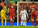 Dec 29th 2014 - Liverpool, UK - LIVERPOOL V SWANSEA - Liverpool Lallana miss Swansea PIcture by Ian Hodgson/Daily Mail