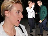 130755, EXCLUSIVE: Scarlett Johansson and Romain Dauriac leave Matsuhisa restaurant after having a holiday dinner with family and friends in Beverly Hills. Scarlett, who gave birth to a daughter named Rose on an unspecified date this year and reportedly married Romain in a secret ceremony on October 1, wore a large ring on her wedding finger. Los Angeles, California - Sunday December 28, 2014. Photograph: © Devone Byrd, PacificCoastNews. Los Angeles Office: +1 310.822.0419 sales@pacificcoastnews.com FEE MUST BE AGREED PRIOR TO USAGE