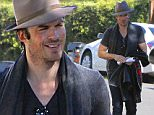 EXCLUSIVE TO INF.\nDecember 29, 2014: Ian Somerhalder hops into a limo outside of Nikki Reed's house in Los Angeles, CA.\nMandatory Credit: Lek/INFphoto.com Ref: infusla-294