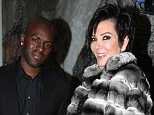 EXCLUSIVE: Kris Jenner and Corey Gamble attend an event at the St Regis hotel in Aspen, Colorado.  Pictured: Corey Gamble, Kris Jenner Ref: SPL918462  281214   EXCLUSIVE Picture by: TC/Splash News  Splash News and Pictures Los Angeles: 310-821-2666 New York: 212-619-2666 London: 870-934-2666 photodesk@splashnews.com