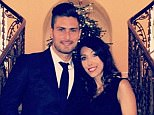 Olivier Giroud pictured with wife Jennifer as the glamorous-looking duo pose before the party