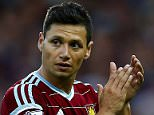 LONDON, ENGLAND - OCTOBER 05:  Mauro Zarate of West Ham applauds the fans as he is substituted during the Barclays Premier League match between West Ham United and Queens Park Rangers at Boleyn Ground on October 5, 2014 in London, England.  (Photo by Julian Finney/Getty Images)