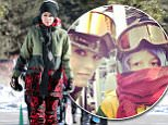 Picture Shows: Gwen Stefani  December 31, 2014\n \n Couple Gwen Stefani and Gavin Rossdale hit the slopes with their son Kingston to enjoy a day of skiing at the Mammoth Mountain Resort in Mammoth, California.\n \n Non-Exclusive\n UK RIGHTS ONLY\n \n Pictures by : FameFlynet UK © 2014\n Tel : +44 (0)20 3551 5049\n Email : info@fameflynet.uk.com