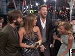 Charles Kelley of Lady Antebellum shows his ripped pants on the red carpet at the People's Choice Awards