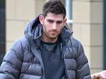 Pic Bruce Adams / Copy Unknown - 7/1/15 Convicted rapist footballer Ched Evans and girlfriend Natasha Massey leave their home near Alderley Edge, Cheshire.-