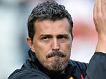 Watford manager Oscar Garcia claps the away support after the Sky Bet Championship match between Charlton Athletic and Watford at The Valley in London, England on September 13, 2014.     FILE - SEPTEMBER 29, 2014:  Oscar Garcia has stepped down as Watford head coach 27 days into his tenure following ill health and has been replaced by Billy McKinlay. LONDON, ENGLAND - SEPTEMBER 13:   (Photo by Justin Setterfield/Getty Images)