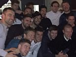 Liverpool's squad turn out for Srktel's birthday bash. (back row): Mamadou Sakho, Jon Flanagan, Jose Enrique, Jordan Williams, Emre Can, Danny Ward, Simon Mignolet, Brad Jones; (middle row): Rickie Lambert, Fabio Borini, Suso, Joe Allen; (front row): Alberto Moreno, Lucas, Philippe Coutinho, Steven Gerrard, Skrtel