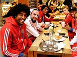 fcbayern Breakfast at the airport - everyone's in a good mood ahead of the training camp in Doha! #MiaSanMia Bayern Munich