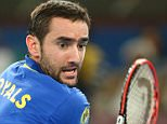 DELHI, INDIA - DECEMBER 06:  Marin Cilic of the UAE Royals in action against Lleyton Hewitt of the Singapore Slammers during the Coca-Cola International Premier Tennis League third leg at the Indira Gandhi Indoor Stadium December 6, 2014 in Delhi, Delhi.  (Photo by Clive Brunskill/Getty Images for IPTL 2014)