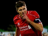 KINGSTON UPON THAMES, ENGLAND - JANUARY 05:  Steven Gerrard of Liverpool celebrates after scoring the opening goal with a header during the FA Cup Third Round match between AFC Wimbledon and Liverpool at The Cherry Red Records Stadium on January 5, 2015 in Kingston upon Thames, England.  (Photo by Julian Finney/Getty Images)