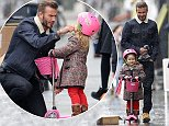 Picture Shows: David Beckham, Harper Beckham  January 13, 2015\n \n Doting dad and football star David Beckham is spotted leaving Notting Hill restaurant Grange with daughter Harper in London, England.\n \n Non-Exclusive\n WORLDWIDE RIGHTS\n \n Pictures by : FameFlynet UK © 2015\n Tel : +44 (0)20 3551 5049\n Email : info@fameflynet.uk.com