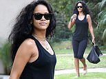 **FEE SET AT 200 GBP FOR ONLINE  SUBSCRIPTION USE BEFORE 22:00 GMT ON 13/01/14** EXCLUSIVE ALLROUNDERRihanna spends the day at a friends house in Beverly Hills. She was wearing Chanel slippers, Givenchy handbag and holding a Jacquie Aiche shopping bag. Featuring: Rihanna Where: Los Angeles, California, United States When: 12 Jan 2015 Credit: WENN.COM/A Team