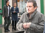 EXCLUSIVE: Orlando Bloom, Noomi Rapace are seen Filming new Film Unlocked about a CIA interrogator is lured into a ruse that puts London at risk of a biological attack.  Pictured: Orlando Bloom, Noomi Rapace are seen Filming new Film Unlocked about a CIA interrogator is lured into a ruse that puts London at risk of a biological attack. Ref: SPL925150  120115   EXCLUSIVE Picture by: Splash News  Splash News and Pictures Los Angeles: 310-821-2666 New York: 212-619-2666 London: 870-934-2666 photodesk@splashnews.com